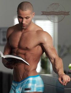reaing-muscle-twink-hunk-bodybuilder-naked-chest-nude-torso-six-pack-abs-pecs-shaved-boxer-shorts-tight-ass