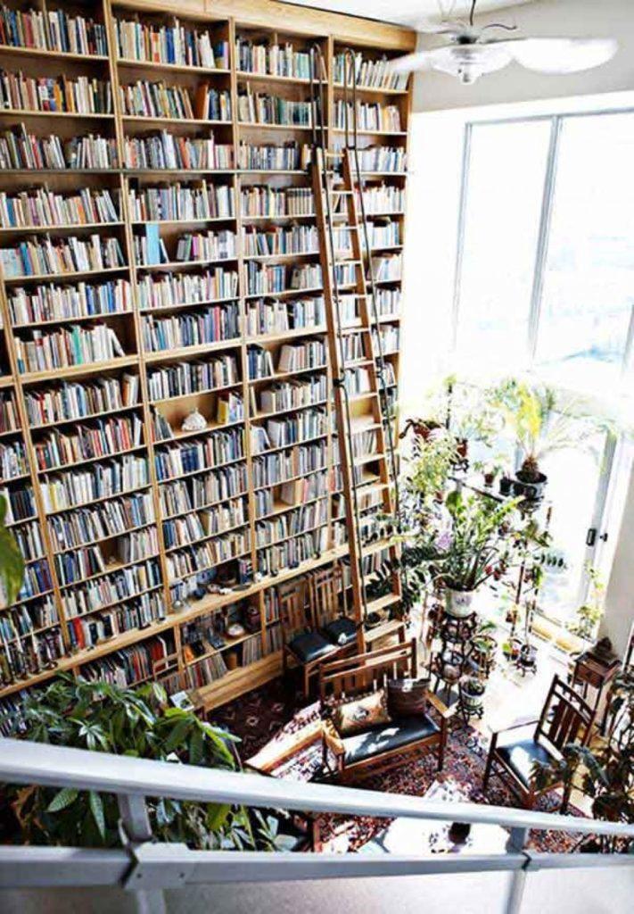 Les livres sur l'alpinisme ? Étagère du haut !