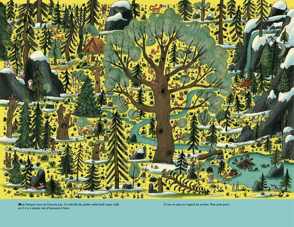 Pompon Ours dans la forêt