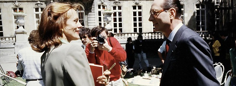 Catherine Nay et Jacques Chirac en 1986