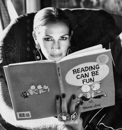 Julia Roberts adore lire